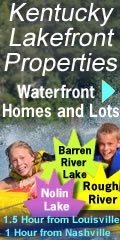 Kentucky Lakefront waterfront homes lots
